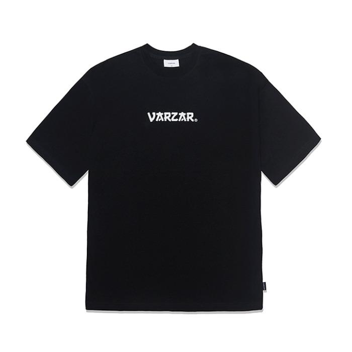 [바잘] 시그니처 로고 반팔 티셔츠 블랙 - 풋셀스토어