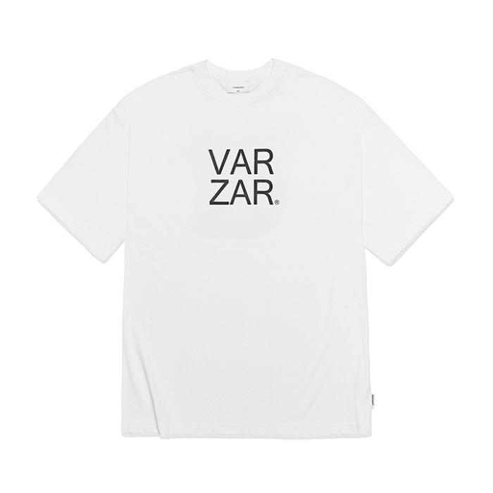 [바잘] 오리지널 블랙 빅로고 반팔 티셔츠 화이트 - 풋셀스토어