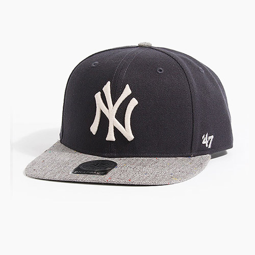 [47BRAND] Victura 47 Captain Yankees(Navy/Grey), 스냅백 - 풋셀스토어